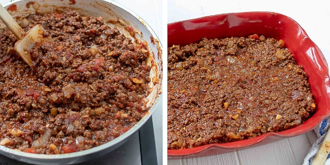 images showing how to make homemade ground beef tacos