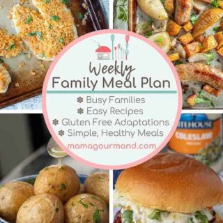 weekly meal plan pinterest pin