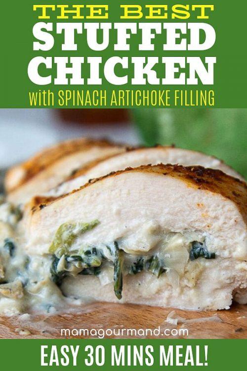 spinach stuffed chicken pin