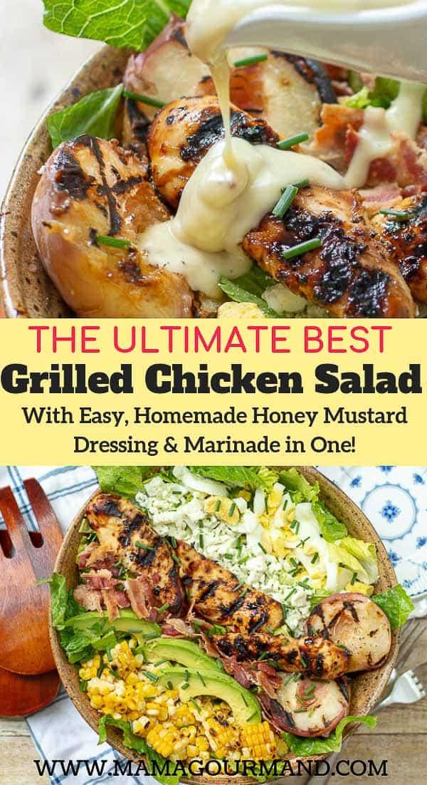 grilled chicken salad pinterest