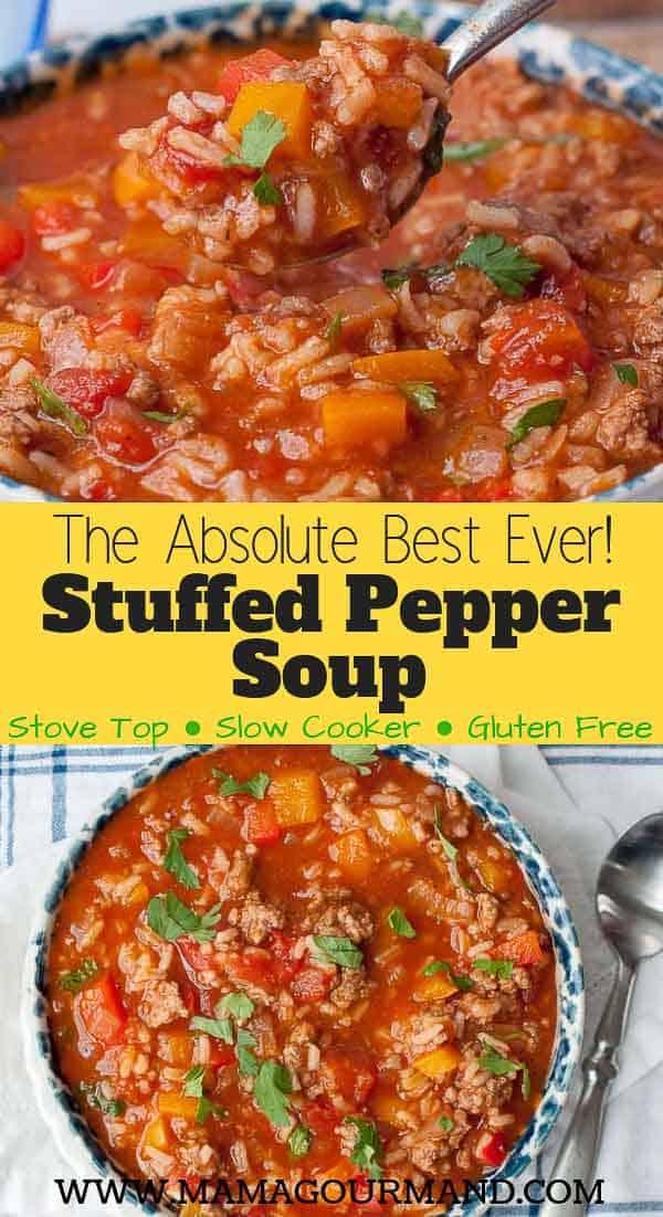 Stuffed Pepper Soup pinterest pin