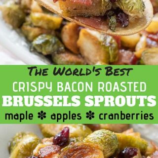 bacon brussels sprouts pinterest pin