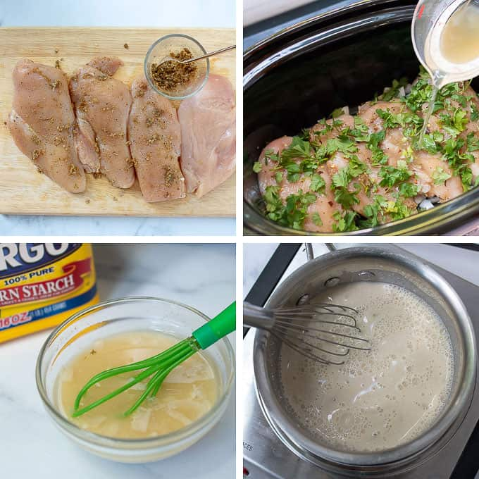 process of making cilantro lime chicken