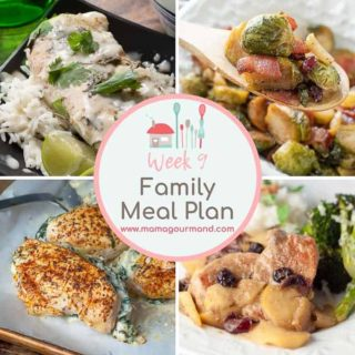 weekly meal plan collage of dinners