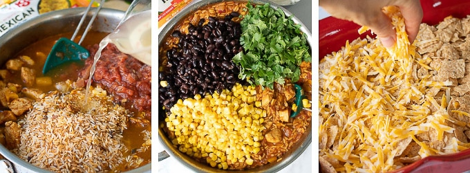 images showing how to make mexican casseorole