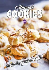 almond cookies pinterest pin