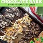 how to make chocolate bark Pinterest pin