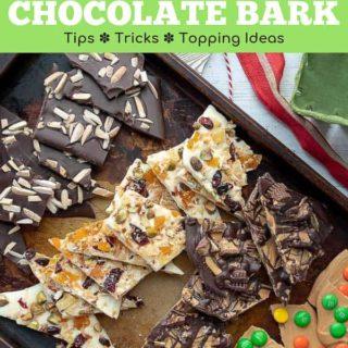 how to make chocolate bark Pinterest pin