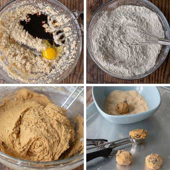 how to make ginger molasses cookies step by step