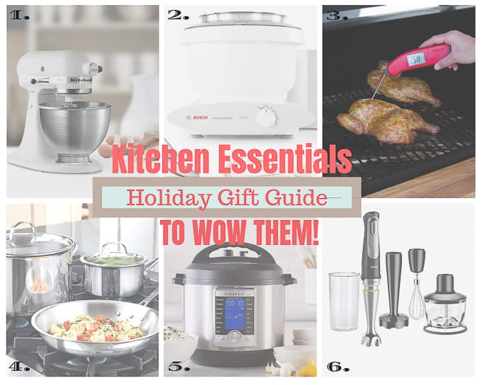 kitchen holiday gift guide photo collage