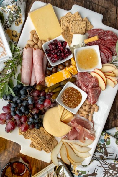 image showing final shot of charcuterie board ideas