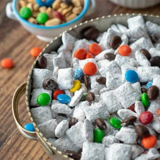 a close up shot of nutella puppy chow in a bowl