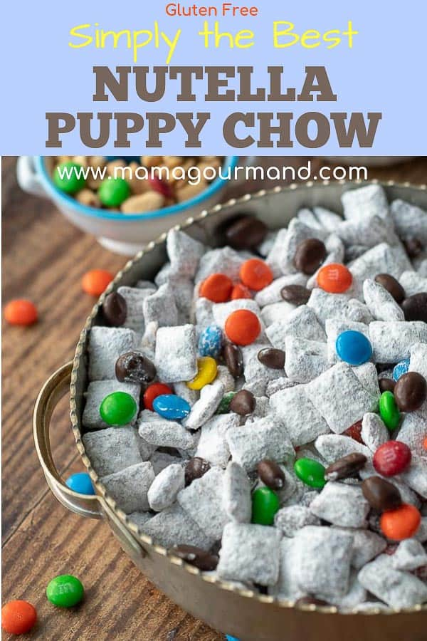 nutella puppy chow pinterest pin