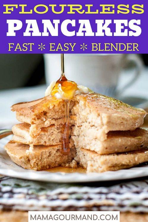 flourless pancakes pin