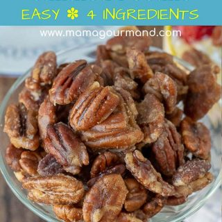 candied pecans pinterest pin