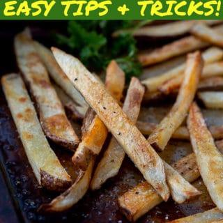 crispy oven fries pin