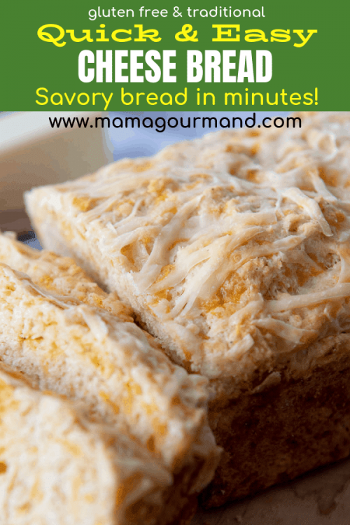 quick cheese bread pinterest