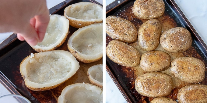 images showing how to make potato skins