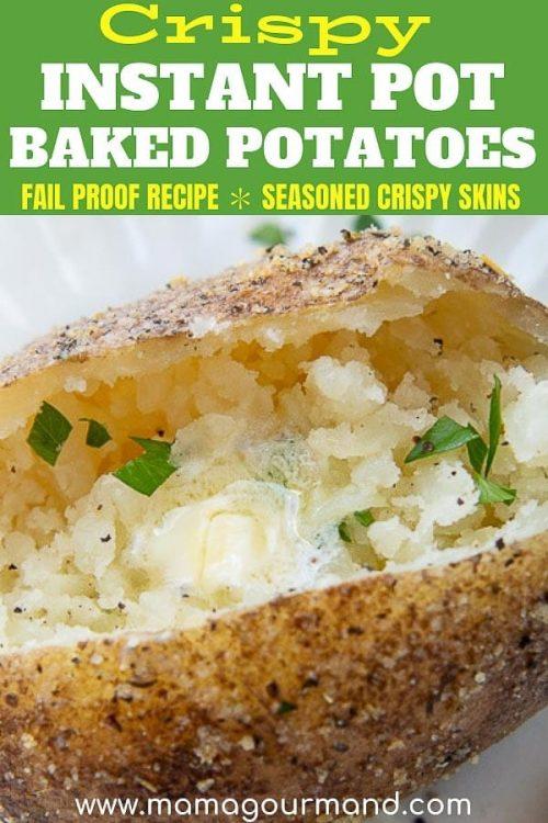 instant pot baked potatoes pinterest