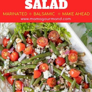 green bean salad pinterest pin