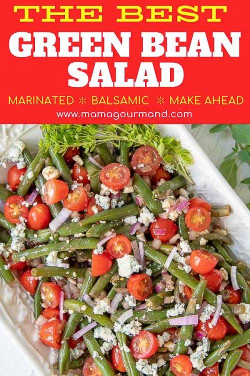 green bean salad pinterest pin