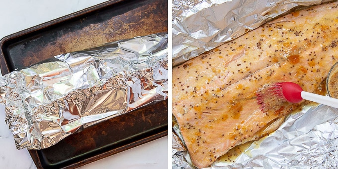 images showing how to make salmon in foil packets