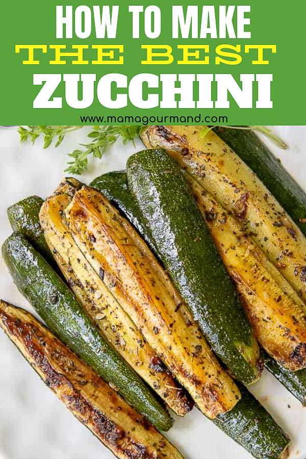 roasted zucchini pinterest pin
