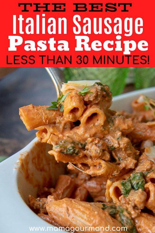 italian sausage pasta pinterest