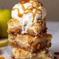 caramel apple cheesecake bars pinterest pin