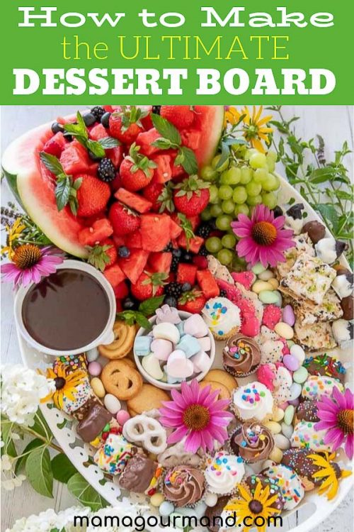 how to make a sweets dessert platter pinterest pin