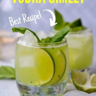 basil cocktail pinterest pin