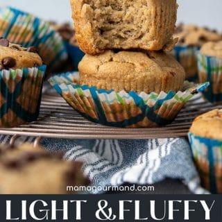 almond flour chocolate chip muffins pinterest pin