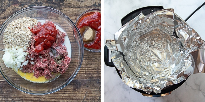 images showing how to make instant pot meatloaf