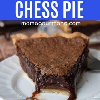 chocolate chess pie pin