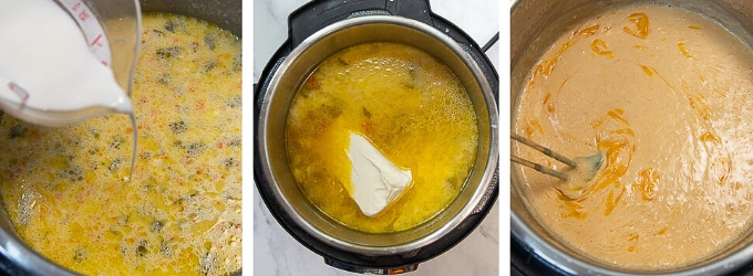 images showing how to make instant pot potato soup