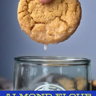 almond flour peanut butter cookies pin