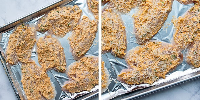 images showing how to make baked parmesan tilapia