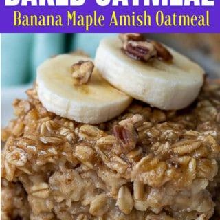 banana baked oatmeal pin