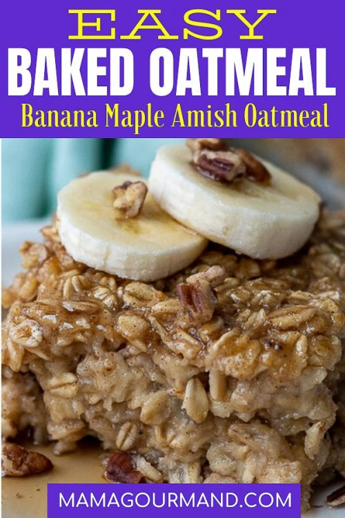banana baked oatmeal pin