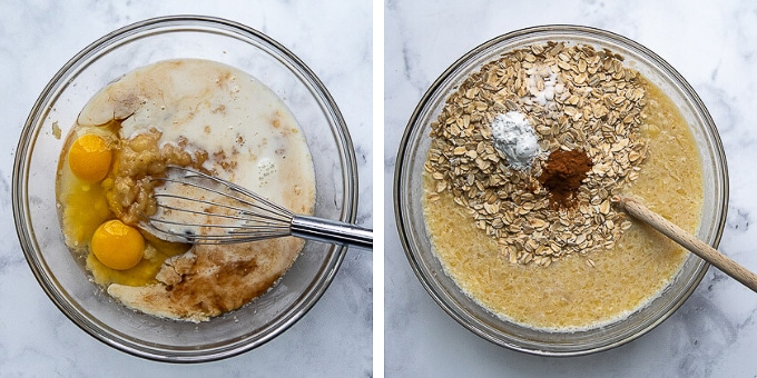images showing how to make baked oatmeal