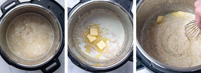 images showing how to make instant pot grits