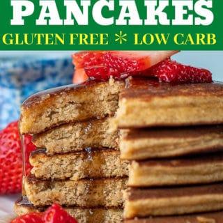 almond flour pancake recipe pin