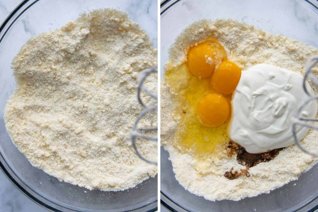 images showing to make gluten-free coffee cake