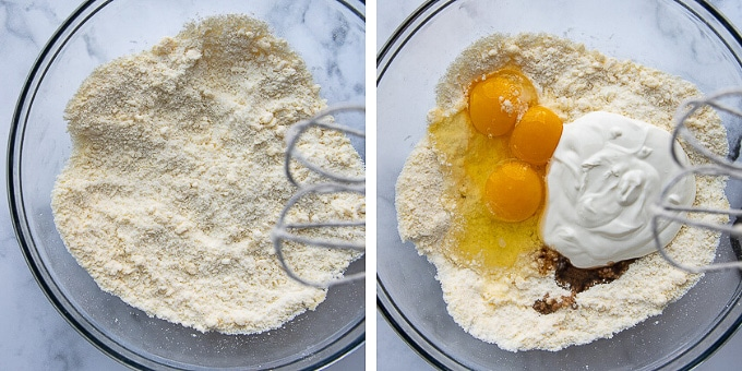 images showing how to make gluten free coffee cake recipe