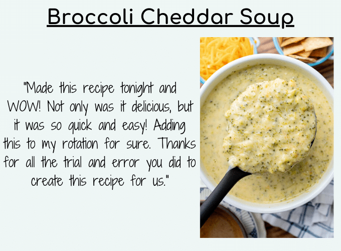 broccoli cheese soup testimonial