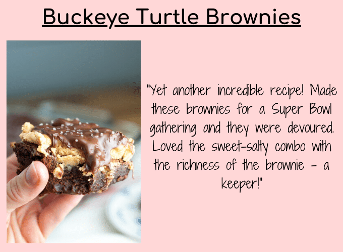 buckeye turtle brownies testimonial