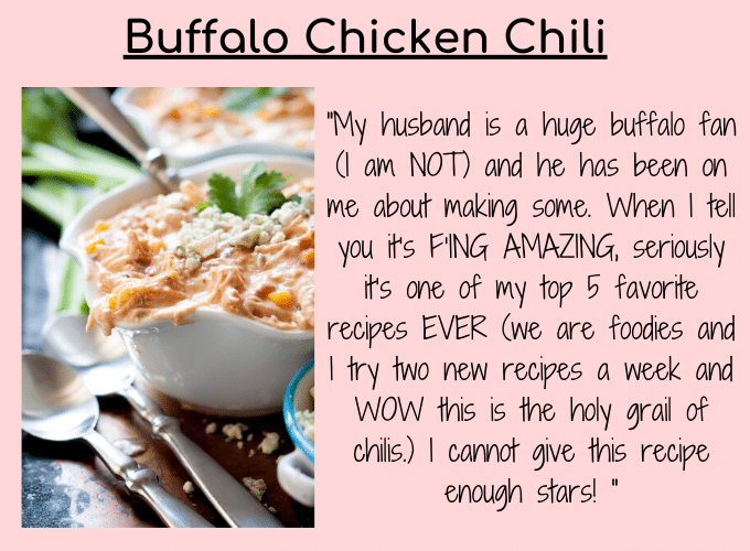 buffalo chicken chili testimonial