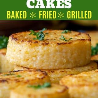 baked grit cakes pinterest pin