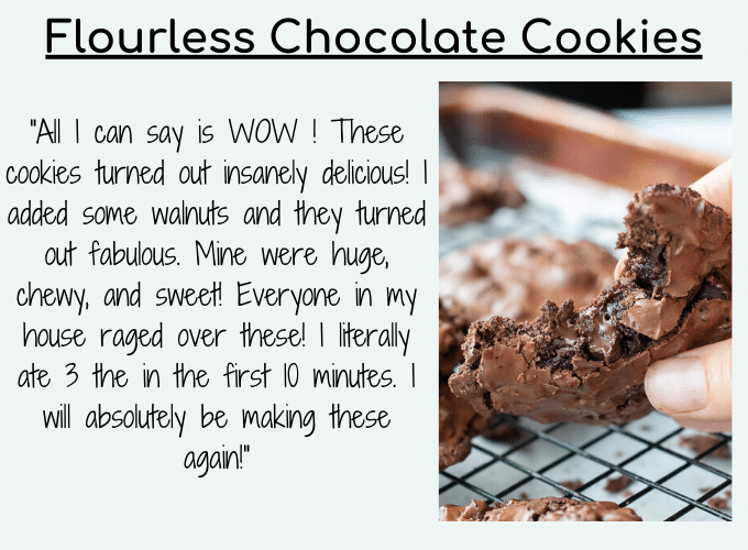 flourless chocolate cookies testimonial