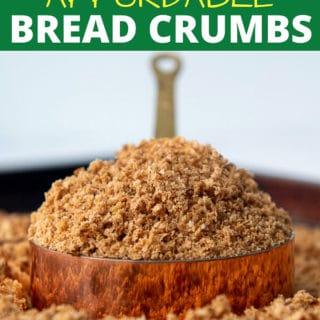 Gluten Free Bread Crumbs pinterest pin